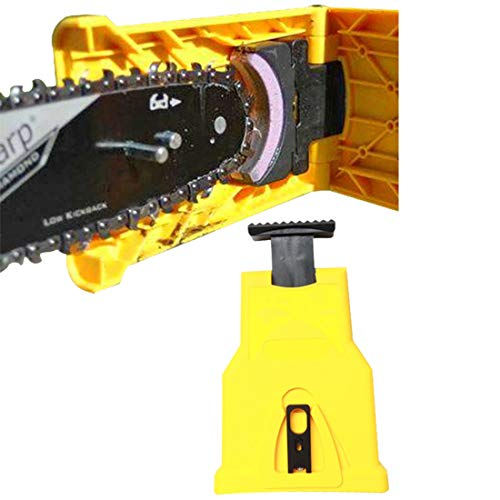 YxFlower Kettensägen Schärfgerät - Holzbearbeitung-schnelles Schärfstein Schleifkettenwerkzeug - Gelb