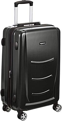AmazonBasics Hardshell Luggage Spinner - 78cm, Slate Grey