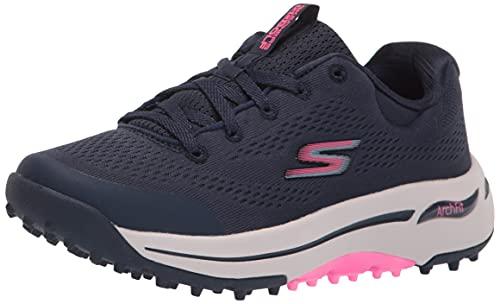 Skechers Women's Go Arch Fit Golf Shoe, Navy/Pink, 9