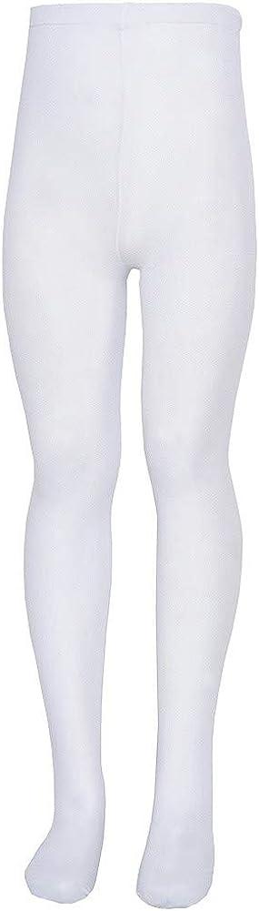Nicole Big Girls White Soft Stretchy Comfy Tights 12-14