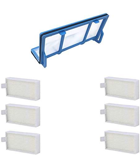 Lot de 7 microfiltres HEPA et 1 filtre en coton pour Ariete Briciola 2711, 2712, 2713, 2717, Ariete Evolution 2.0 Ecovacs Deebot CR120