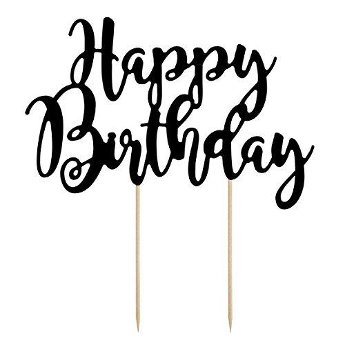 Simplydeko Cake Topper | Tortenstecker - Tortentopper | Caketopper zu Hochzeit, Party oder Kindergeburtstag (Happy Birthday zum Geburtstag)