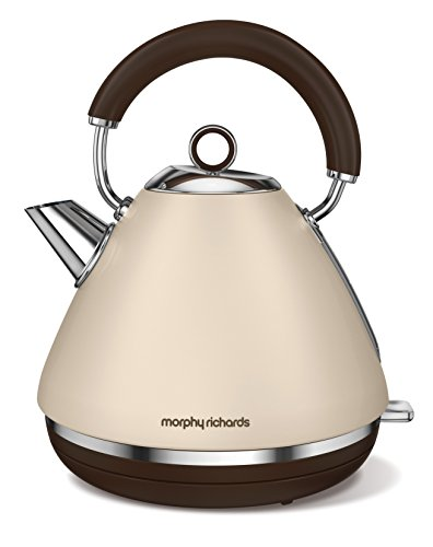 Morphy Richards Wasserkocher Accents Special Edition Sandfarben 102101, 2200, Aluminium