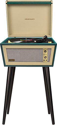 small Crosley CR6231D-GR Sterling Portable, with Aux-In and Bluetooth, green and cream