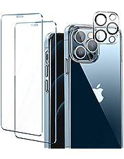 ivencase Funda Compatible con 12 Pro MAX, 2 Pack Cristal Templado y 1 Pack Lente de cámara - Clear