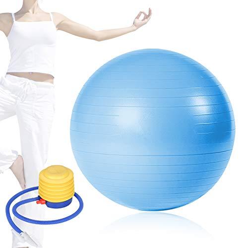 TolleTour Gymnastikball inkl Ballpumpe, Robuster 300kg Maximalbelastbarkeit Sitzball Pilates Ball Yoga Ball als Fitness Kleingeräte und Balance Stuhl im Gym-Home-Büro 65/75 cm Multi Color