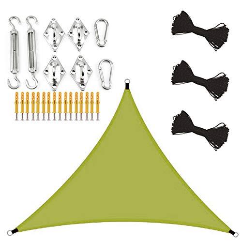 ZJHTK Toldo Vela de Sombra Sombra Impermeable Sombra Rectangular Protección UV Usado para Patio Jardín Camping Terraza Balcón,Natural,4x4x4m