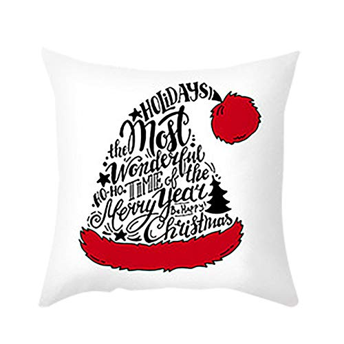 Christmas Pillow Covers 18 x 18 Inche Cushion Cover Case Pillow Custom Zippered Square Pillowcase