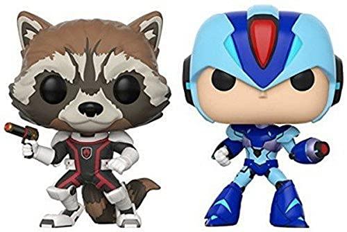 Funko POP! Marvel: Guardianes de la Galaxia: Rocket Vs. Mega Man X