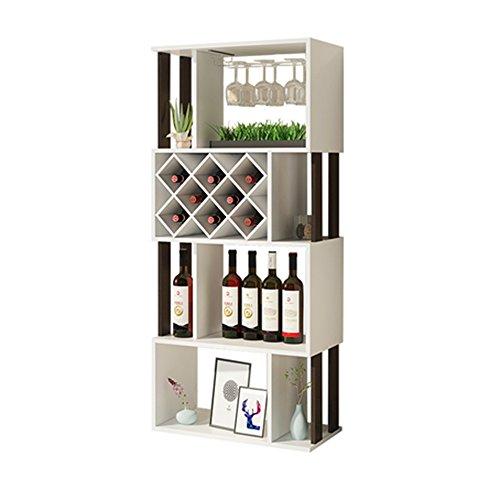 MEIDUO Cremagliera del Vino Armadietto da Incasso a Parete per la casa - Mobile in Legno massello Compilare Qualsiasi Spazio (Colore : Bianca)