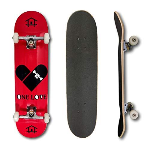 Skate Montado Profissional House Skateboarding One Love
