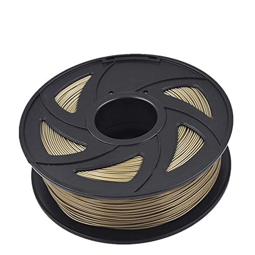 ABS 3D Printer Filament - 2.20 lb (1 kg) The Diameter of 1.75 mm, Dimensional Accuracy ABS Multiple Color (Bronze)