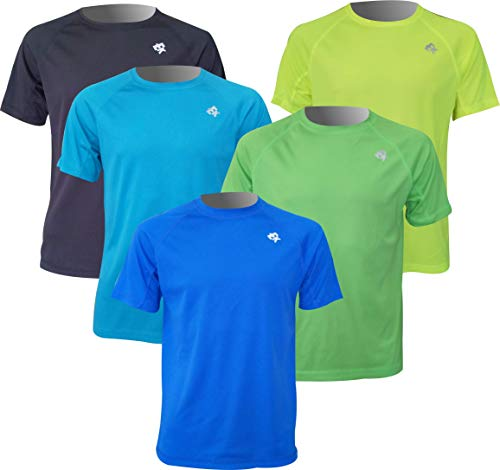 Pack 5 Unidades Camisetas Manga Corta Ekeko Offroad, Camisetas Poliester 100%. Multideportes. Running y Senderismo (L)