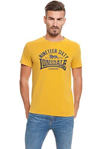 Lonsdale London Nineteen Sixty T-shirt geel maat S, M, L, XL, XXL.