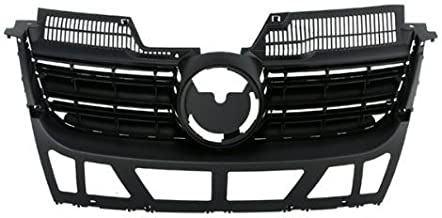 CarPartsDepot, Front Black Plastic Grill Grille w/o Chrome Molding Assembly Paintable, 400-451023?VW1200139 1K5853653C9B9