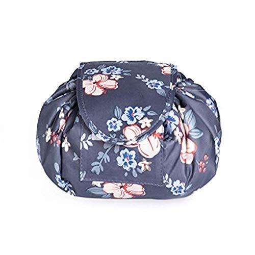 Sun&Home Trousse de Maquillage Portable avec Cordon de Serrage pour Femme et Fille Motif Fleurs