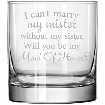 11 oz Rocks Whiskey Highball Glass Youre Obviously Going To Be My Maid Of Honor Will You Be My Proposal
