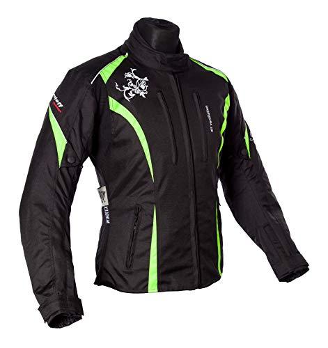 Roleff Racewear Motorradjacke Lady Latina, Neon Gelb, Größe XXL