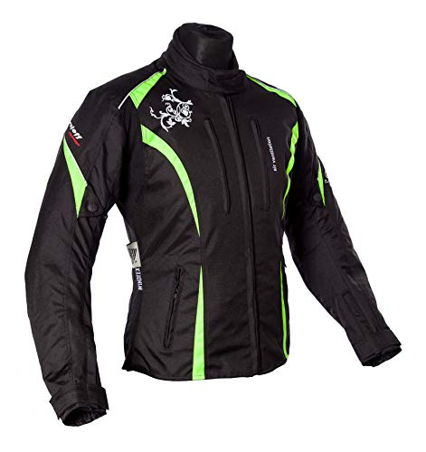 Roleff Racewear Motorradjacke Lady Latina, Neon Gelb, Größe S
