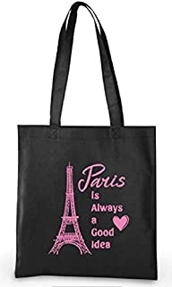 Paris Party Favors Eiffel Tower Theme Tote Bags for Girls Birthday 6 Total