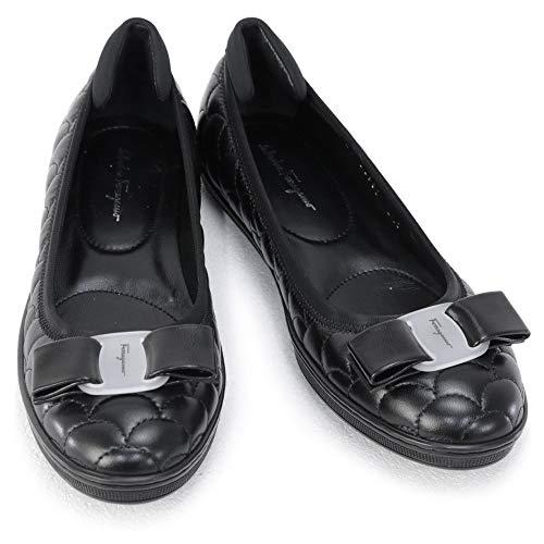 [SALVATORE FERRAGAMO] [サルヴァトーレ フェラガモ] 靴 レディース リボン フラットスニーカー フラットシューズ パンプス ブラック (SAVINA 1 0733745 NERO) 20AW (ブラック, 6Cサイズ) [並行輸入品]