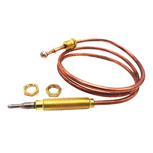 POHOVE Universal-Gas-Thermoelement, 60 cm Länge, für Grill, Feuerstelle, Heizung oder Gas-Durchlauferhitzer, M8 x 1, Endmutter und Kopfspitze (Kupfer)