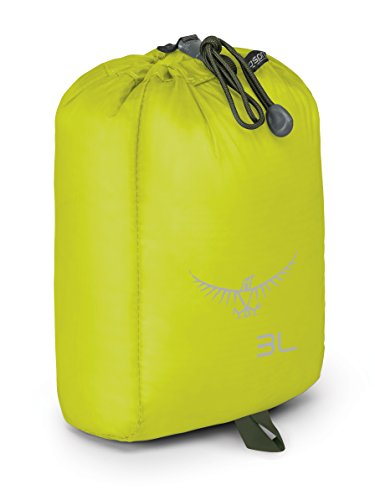 Osprey Packs 3L Ultralight Stuff Sack, Electric Lime, o/s, One Size