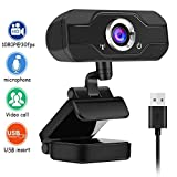 bdleking 1080p webcam streaming hd pour la visioconférence, l'enregistrement et le streaming, web cam avec le rotary extended view hd webcam pour pc