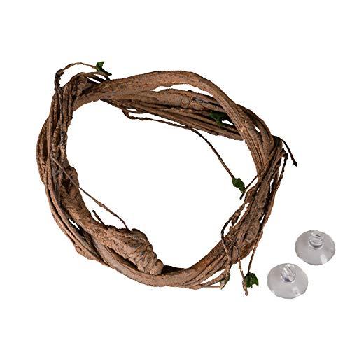 SHOUCAN Rama de Escalada de Reptil Vine de La Selva Terrario, Decoración Flexible de Hábitat de Mascotas para Cresta Gecko Lagarto Araña Escorpión,1.8m
