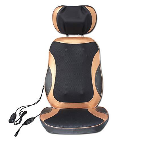 Preisvergleich Produktbild Shiatsu Massageauflage Massagesitzauflage Massagematte mit Wärmefunktion - Elektrisch Rückenmassagegerät mit Kneten Rollmassage,  3 Massagezonen,  Vibrationmassage für Nacken Rücken Gesäß Entspannung