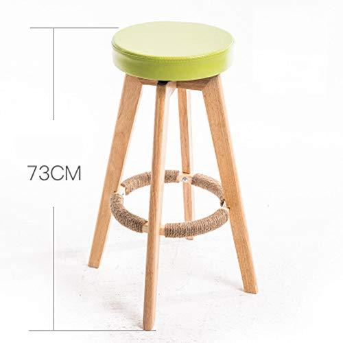 Taburetes de bar, silla de cojín, comedor \u0026 silla de jardín, Multicolor Patchwork Desayuno Cocina Mostrador Sillas de Madera en la Naturaleza moderno Large 5