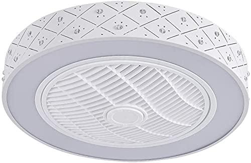 Ventilador de techo de estilo nórdico 72W con luz lujosa Lámpara de ventilador? 55 cm Luces de techo de atenuación invisibles modernas con control remoto Luz de ventilador de mudo regulable para la of
