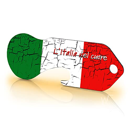 Einkaufswagenlöser Code24 Italien - Schlüsselanhänger mit Einkaufschip & Schlüsselfinder, inkl. Registriercode für Schlüsselfundservice, Einkaufswagenchip mit Profiltiefenmesser, Key Finder