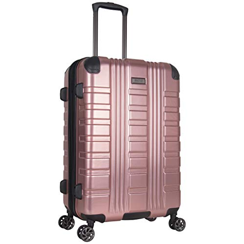 Kenneth Cole Reaction Scott's Corner Hardside Expandable 8-Wheel Spinner TSA Lock Travel Suitcase, Rose Gold, 24-inch Checked
