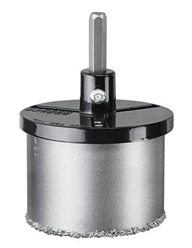 kwb Lochsäge-Set 6-teilig – mit 4 Größen, HM bestreut – inkl. – Zentrierbohrer und Aufnahmeteller