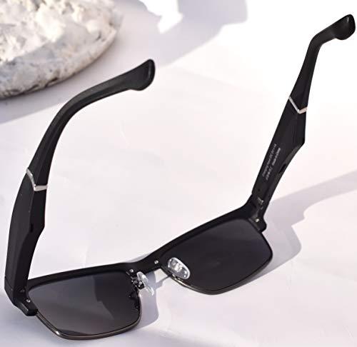 WNZL Bluetooth-Sonnenbrille, Richtungsübertragungslautsprecher mit ultraleichtem Rahmen, austauschbare 3 Brillenbeine, integriertes Mikrofon für Kopfhörer, Musik, Telefonanruf,Grau