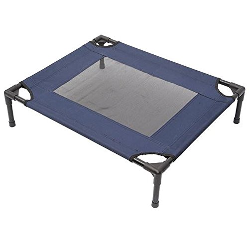Tenive Elevated Mesh Pet Bed Pet Dog Cot Sleeping Bed,30'x 24' (Blue x 1)