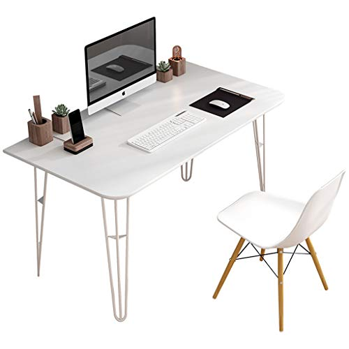 Staal-hout Computer Desk/Nordic Desk/Desktop Computer Desk/Office Study Desk/PC Laptop Desk/Workstation/Home Office Game Desk/Meeting Room Desk/Kitchen Eettafel/Badkamer Dressoir
