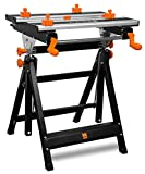 WEN WB2322 24-Inch Height Adjustable Tilting Steel Portable Work Bench...