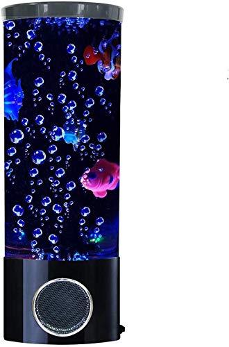 Lámpara de Lava para Peces, Altavoz Bluetooth, Burbuja, LED, fantasía, Multicolor, cambiante,...