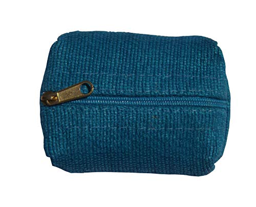Green Breeze Imports Teal Handmade Abaca Pillow-Style Coin Purse (2 pack)