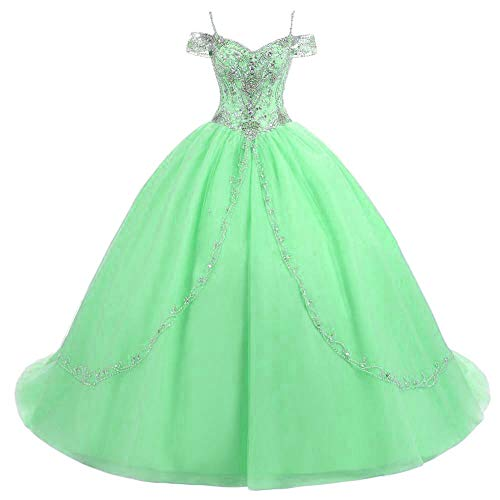 BanZhang Women's Dresses 2019 Prom Sweet 16 Ball Gown Off The Shoulder B365