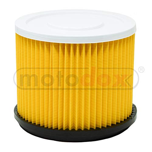 Lamellen vouwfilter, droogfilter geel met stalen binnenrooster, universele luchtfilter, geschikt voor Bosch nat-droogzuiger PAS 1000F, PAS 850, PAS 900, PAS900F