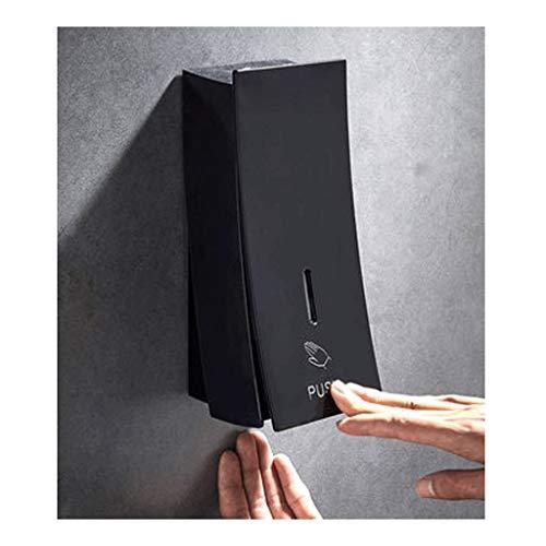 Distributeur de savon Distributeur de savon mural manuel savon Pompe Savon carré Bouteille Lotion pompe en plastique noir pompe Bouteille chambre et cuisine pompe à savon