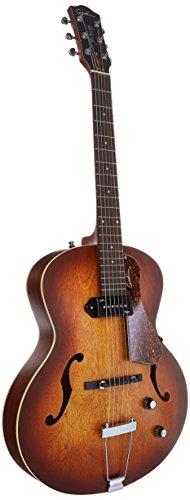 Godin 5th Avenue Kingpin P90 Jazz-Style Acoustic Electric Guitar Bundle , Cognac...