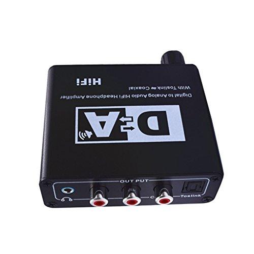 Sharplace Covertidor de Amplificador de Alta Fidelidad de Audio Digital A Analógico con Toslink Coaxial Herramientas