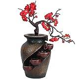 Cascada de Fuente de Escritorio de relajación Interior, Fuente de Agua de Resina de Mesa de meditación Zen, decoración del hogar para el hogar, la Oficina, la decoración del Dormitorio