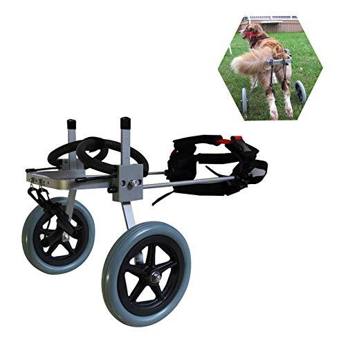 Hund Rollstuhl,Hunderollstuhl Hunderollwagen Gehhilfe,Passend für Haustier Cat Puppy Beagle Schaeferhund Lähmung Verletzt Hinterbeine Rehabilitation,Einstellbar,2 Räder 1,5 kg(3,3 lbs)-50 kg (110 lb)