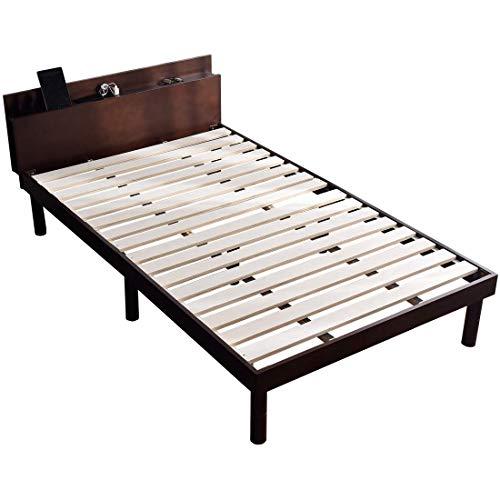 タンスのゲン『宮付きすのこベッドスマホスタンド付き』