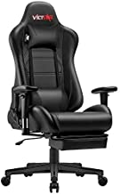 VICTONE Gaming Chair Racing Office Computer Chair Video Game Ergonomic Chair with Footrest Large Size High Back Gaming Desk Chair with Headrest and Lumbar Support